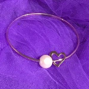 Hawaiian made rose gold pearl bracelet